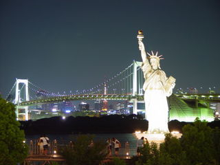 The Small Statue of Liberty in Tokyo