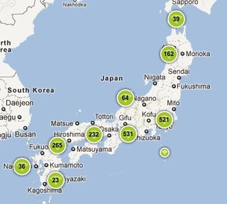 Free wifi map in japan