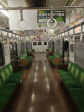 An empty Japanese train